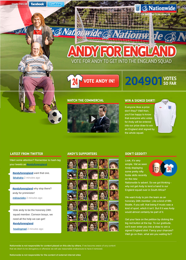 Andy for England Screenshot